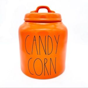 RAE DUNN 'CANDY CORN' Orange Canister